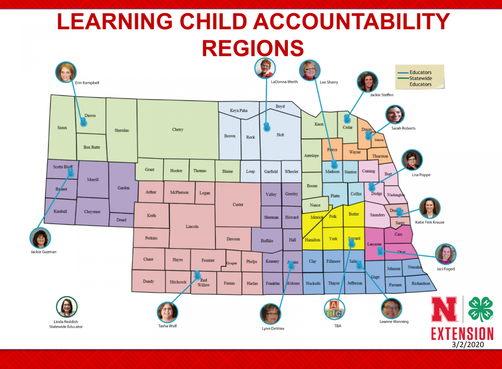 Learning Child Accountability Regions map