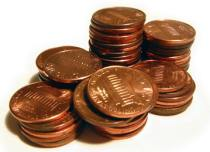 stack of pennies