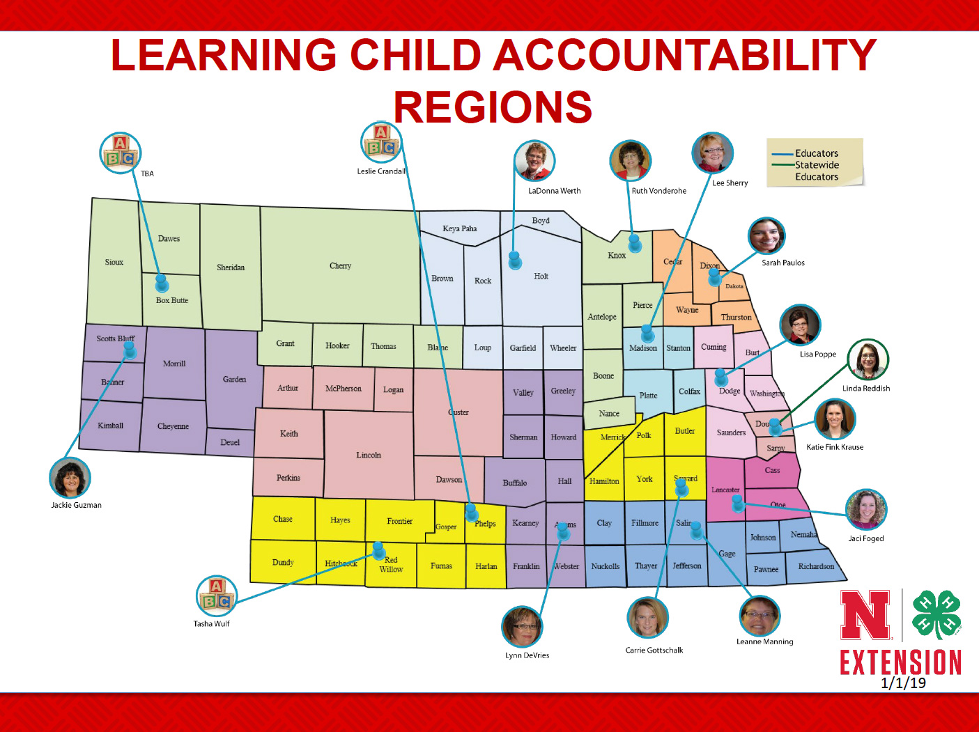Map of educators